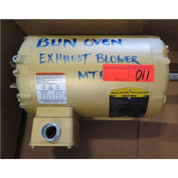 Baldor Reliance EM3559T Super-E Motor Bun Oven Exhaust Blower