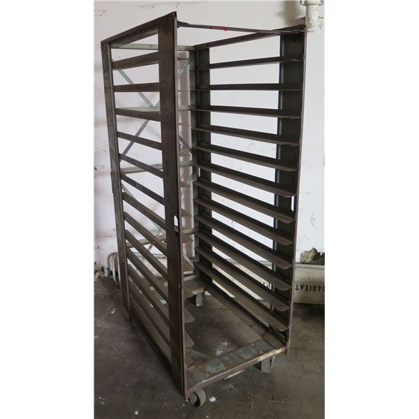 Heavy Duty Commercial Rolling Metal Cooling Rack