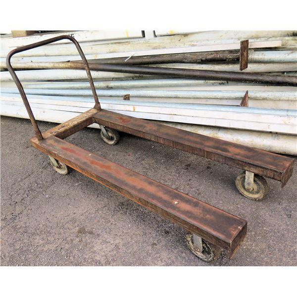 "Rolling Transport Cart 72""L x 13""H x 40"" Handle Ht"