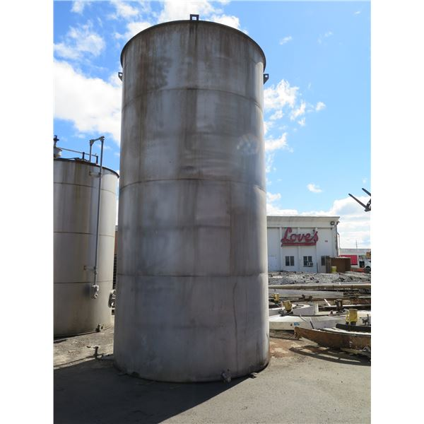 """Stainless Steel Tank 114"""" O.D. x 19 St. Sd. 304 SS"""