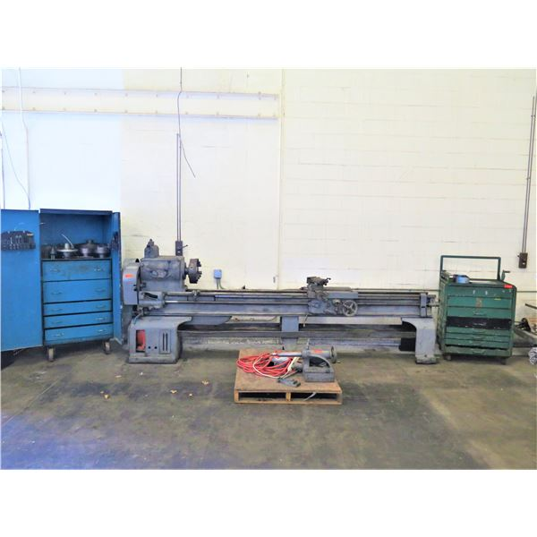 Stokes Industries Lathe w/ 2 Cabinets with Tooling