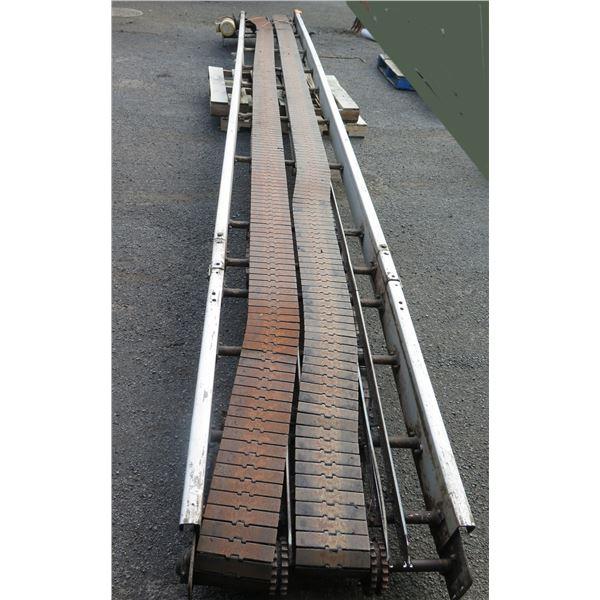 "Commercial Dual Conveyor Belt System 288""L x 29""W"