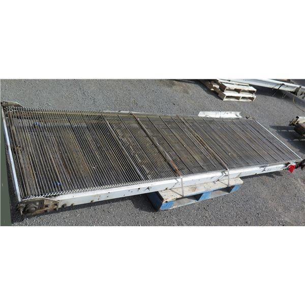 "Metal Roller Conveyor System 128"" x 48"""