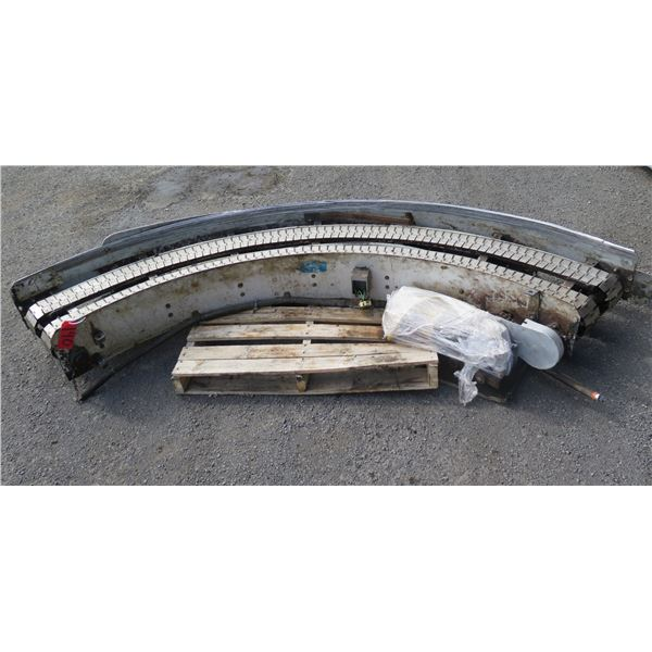 "Lanham Semi-Circle Dual Conveyor Belt 112""L x 20""W"