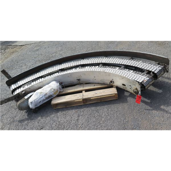 "Semi-Circle Dual Conveyor Belt 112""L x 26""W"
