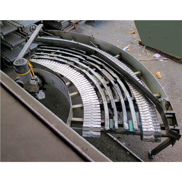 "Semi-Circle Dual Conveyor Belt 112""L x 43""W"