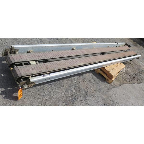 "Commercial Dual Conveyor Belt System 168""L x 30""W"