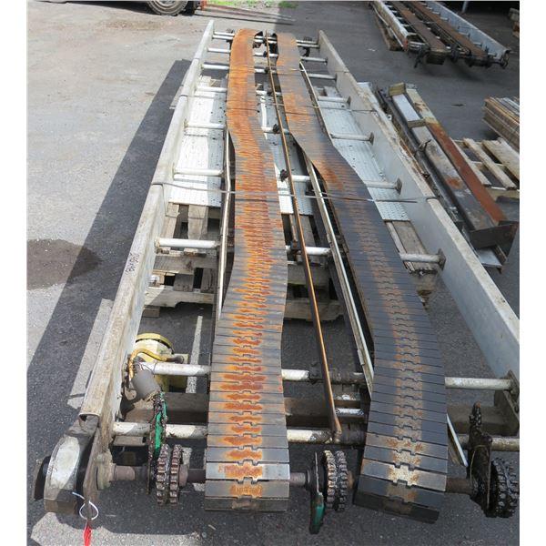"Commercial Dual Conveyor Belt System 240""L x 48""W"