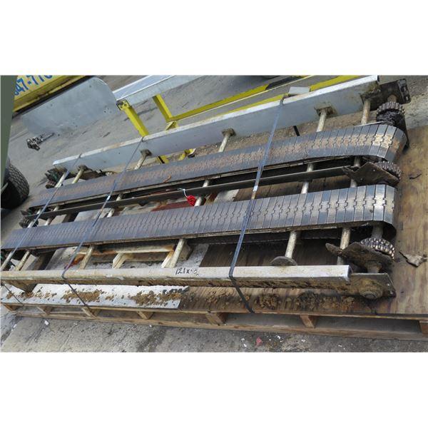 "Commercial Dual Conveyor Belt System 121""L x 48""W"