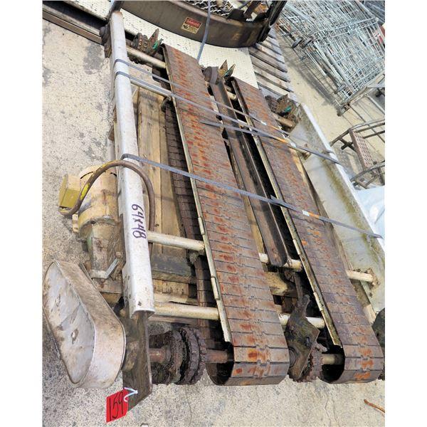 "Commercial Dual Conveyor Belt System 64""L x 48""W"