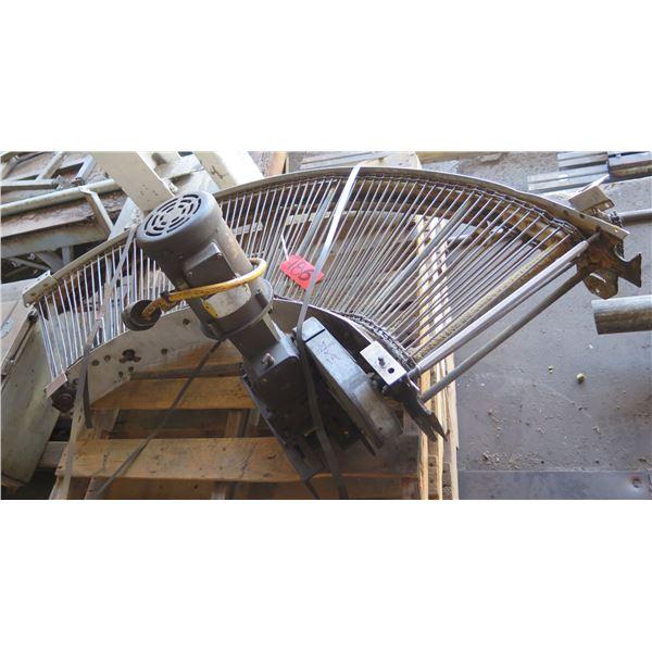 "Metal Roller Semi-Circle Conveyor System 72"" x 19"""