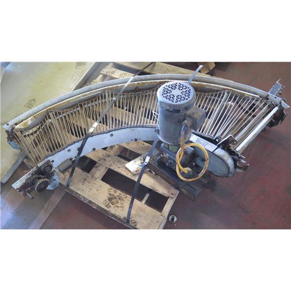 "Metal Roller Semi-Circle Conveyor System 72"" x 20"""
