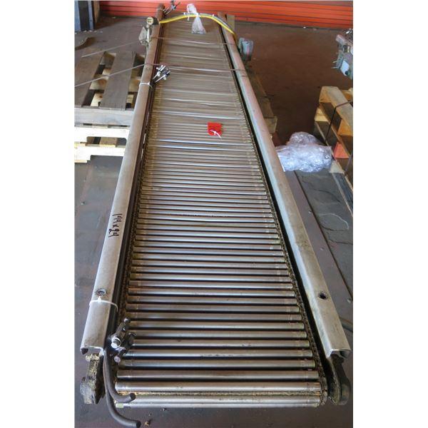 """Metal Roller Single Conveyor System 144"""" x 24"""""""