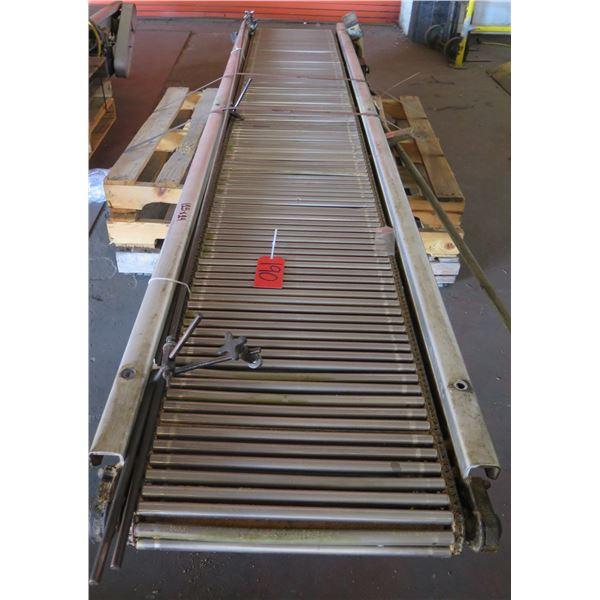 """Metal Roller Single Conveyor System 123"""" x 24"""""""