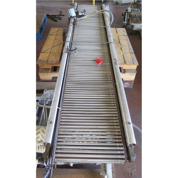 """Metal Roller Single Conveyor System 119"""" x 24"""""""