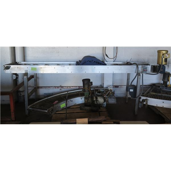 "Trans Power Metal Raised Platform w/ Roller Belt & Baldor Engine 119""x 20"""