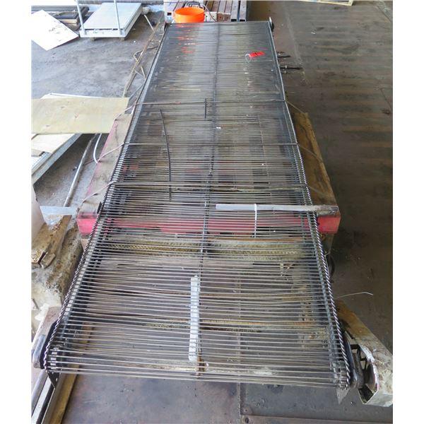 """Metal Roller Single Conveyor System 138"""" x 36"""""""