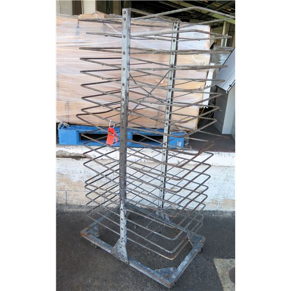 """Rolling Metal Double Sided Tray Cooling Rack 22""""x 41""""x 72""""H"""
