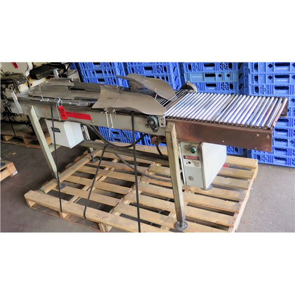 Raised Metal Roller Single Conveyor System w/ Attachments