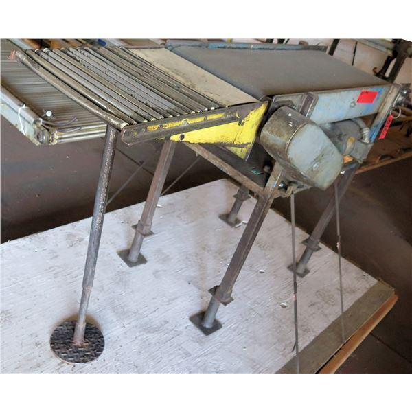 Curtis Bakery Raised Metal Roller Single Conveyor System