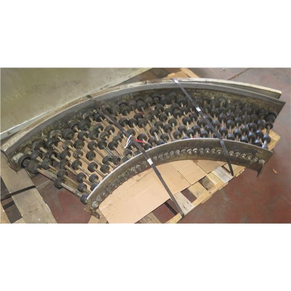 "Metal Roller Semi-Circle Conveyor System  72"" x 24"""