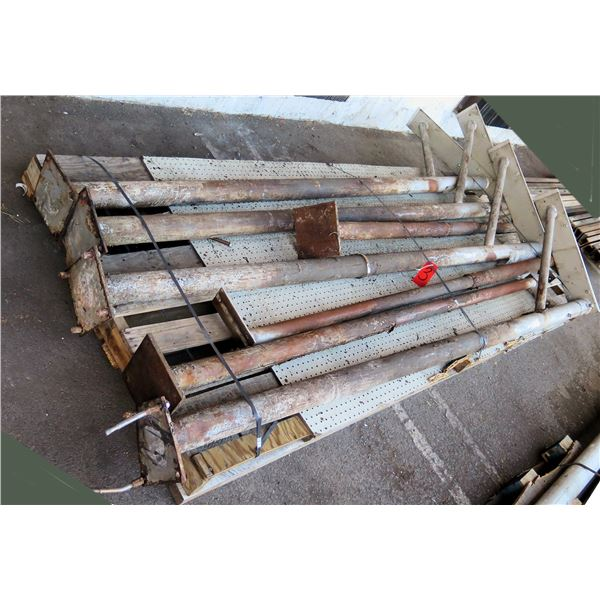 Pallet Metal Footed Racks Misc Lengths Including 115 L x 30 W x 7 H