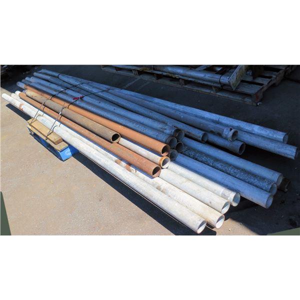 "Pallet Multiple Galvanized & Mild Steel Pipe Misc Lengths Including 126"" & 188""L"