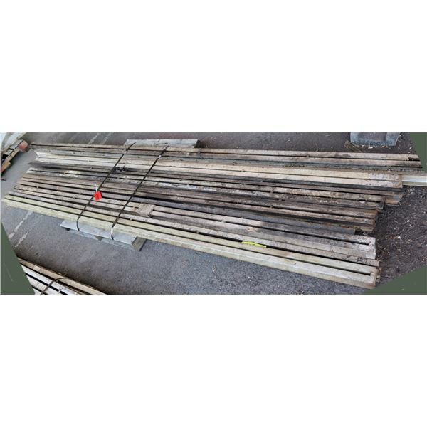 Pallet Multiple Channel Iron & I-Beams Misc Lengths Including 191 L x 3 W x 3 H