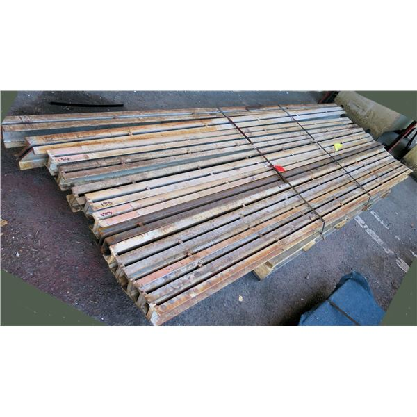 """Pallet Multiple Slotted I-Beams Misc Lengths Including 132""""L x 4""""W x3""""H"""