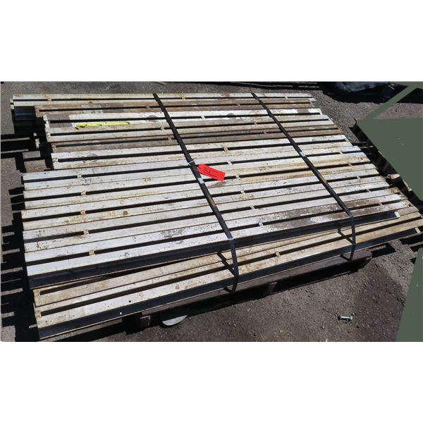 Pallet Multiple Slotted I-Beams Misc Lengths Including 62  & 66 L x 4 W