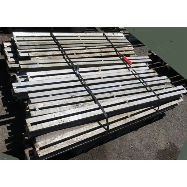 Pallet Multiple Slotted I-Beams Misc Lengths Including 62 L x 4 W x 3 H