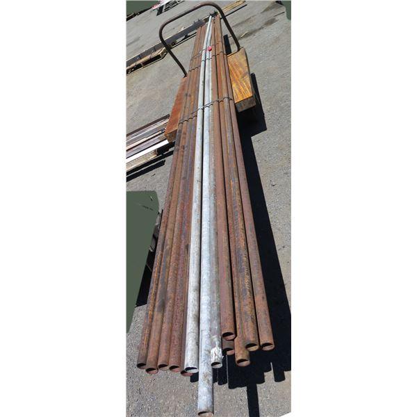 "Pallet Multiple Metal Pipes Misc Lengths Including 254"" & 288""L"