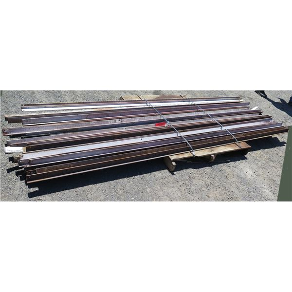 Pallet Multiple Channel Iron Misc Lengths Including 124 L x 2 W x 2 H
