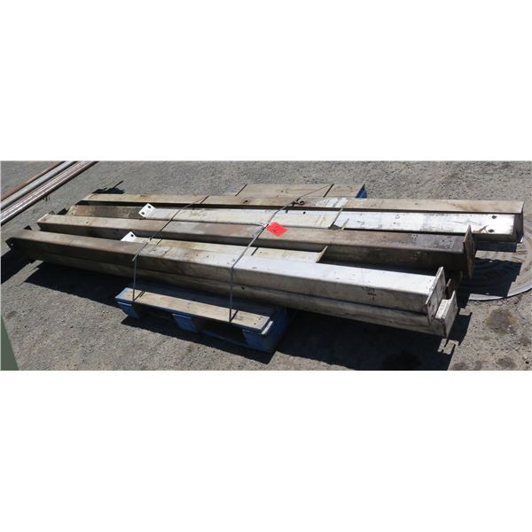Multiple Footed Square Sections & I-Beams Misc Lengths Including 120 L & 52 L