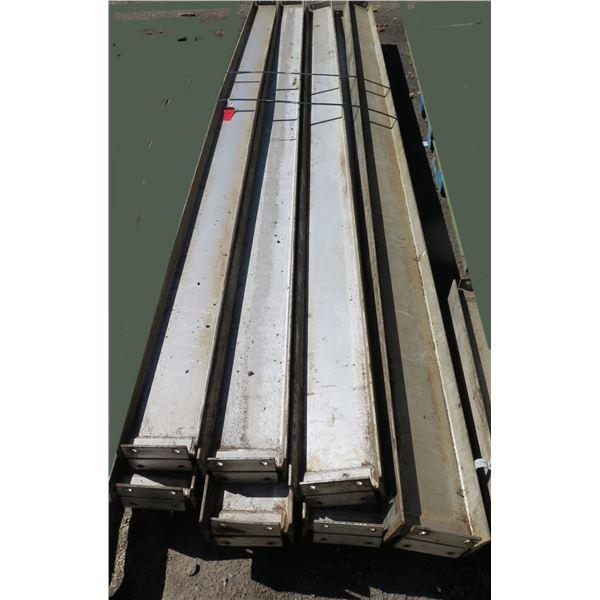 Pallet Multiple Channel Iron Misc Lengths Including 182 L  Argent VA-IS 200x28