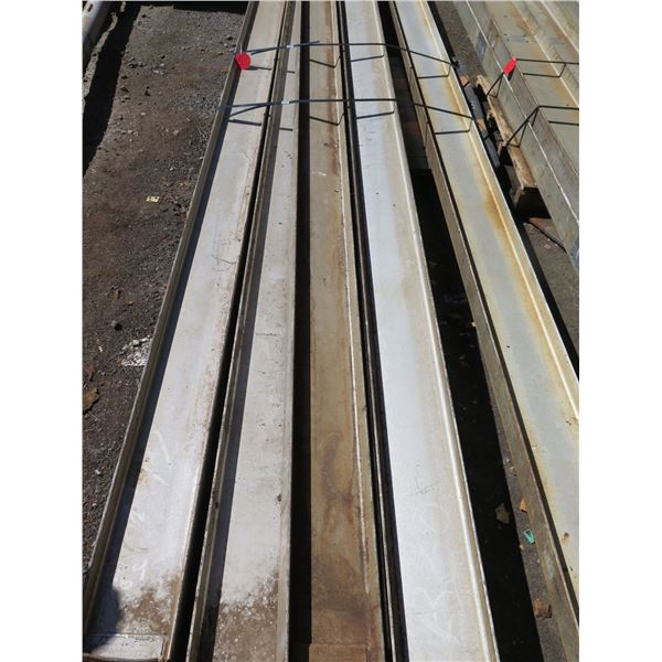Pallet Multiple Channel Iron Misc Lengths Including 178 L  Argent VA-IS 200x28