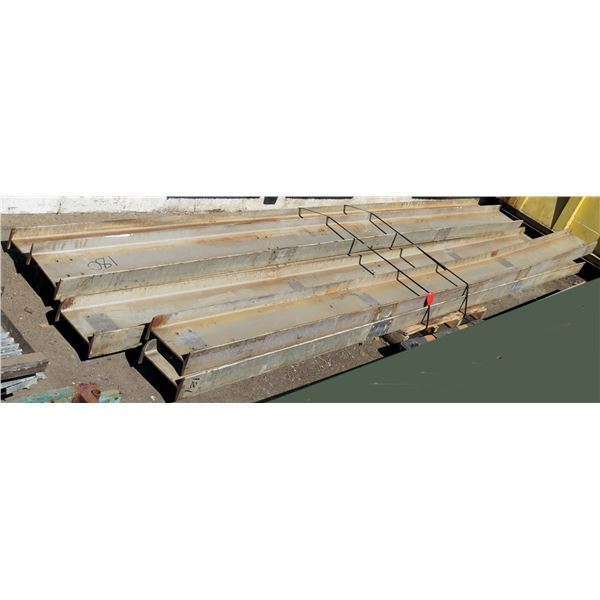 Pallet Multiple I-Beams Misc Lengths Including 180 L x 10 W x 5 H
