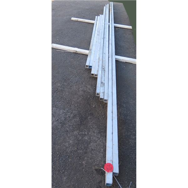 """Pallet Multiple 2""""X x 2"""" Aluminum Square Tubing ¼"""" Wall Thickness Misc Lengths"""