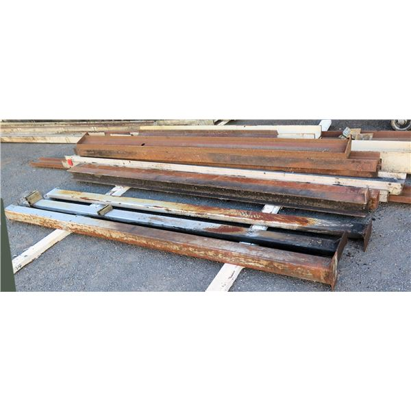 """Pallet Multiple Channel Iron, Footed Poles & I-Beams Lengths Including 116"""" & 120""""L"""