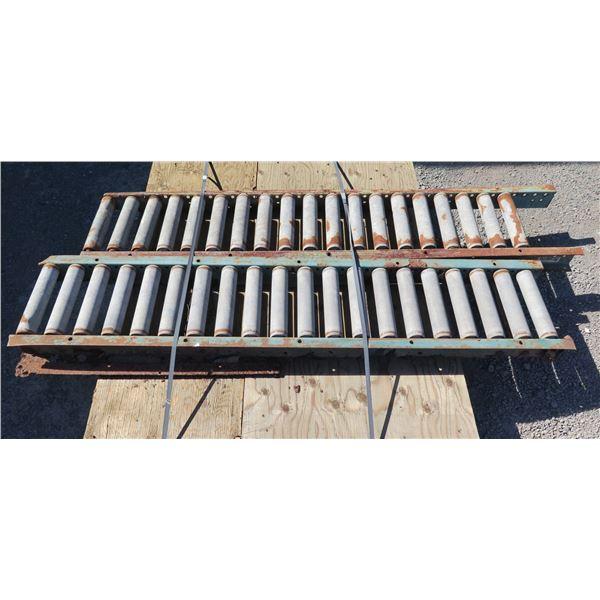 "Qty 2 Metal Conveyor Sections 60""L x 12""W"