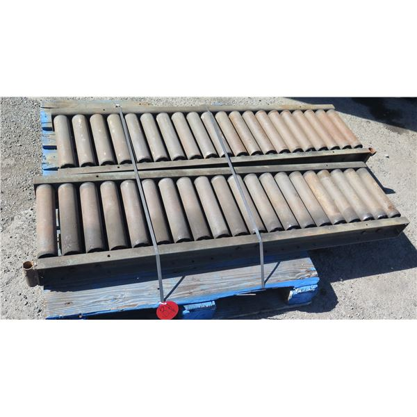 Qty 2 Metal Conveyor Sections 62 L x 16 W