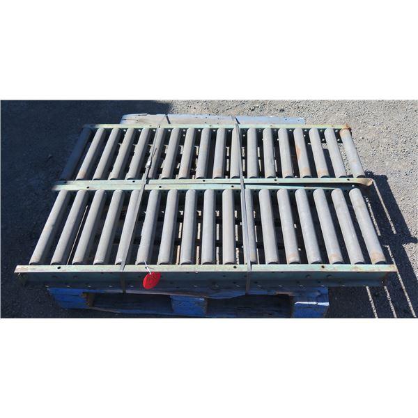 Qty 2 Metal Conveyor Sections 52 L x 16 W