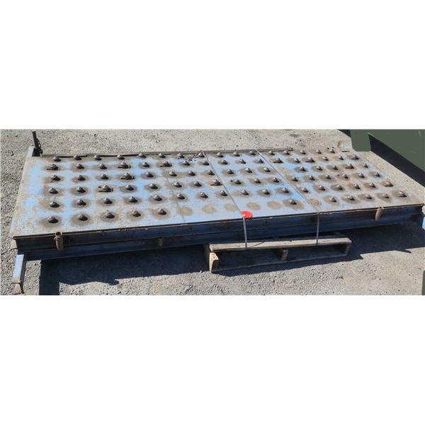 "Metal Plate Ball Transfer Platform Roller System 108""L x 40""W"