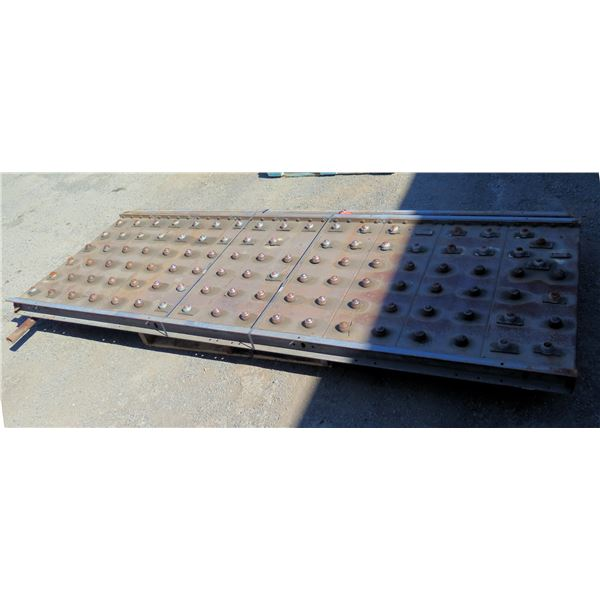 Qty 2 Metal Plates Ball Transfer Platform Roller System 108 L x 40 W
