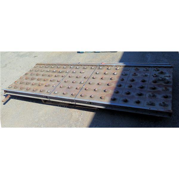 "Qty 2 Metal Plates Ball Transfer Platform Roller System 108""L x 40""W"