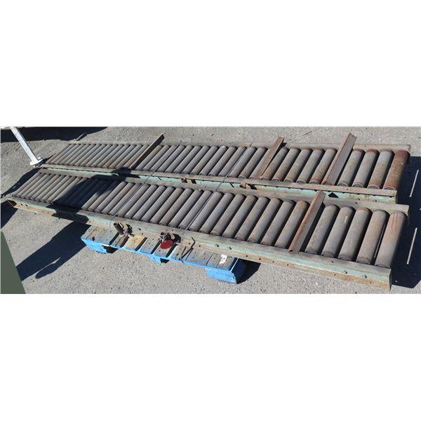 "Qty 2 Metal Conveyor Sections 120""L x 16""W"