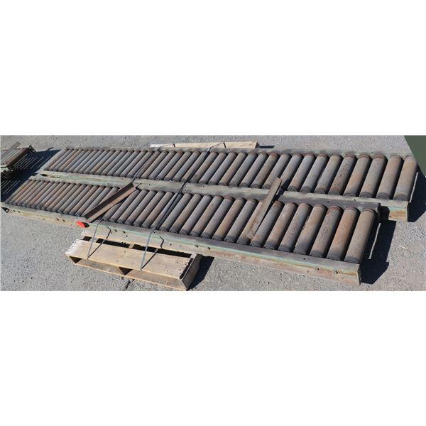 Qty 2 Metal Conveyor Sections 126 L x 16 W