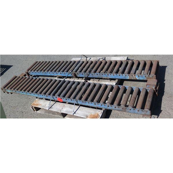 Qty 2 Metal Conveyor Sections 88 L x 13 W