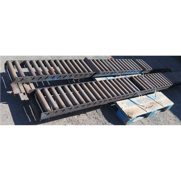 Qty 2 Metal Conveyor Sections 120 L x 12 W
