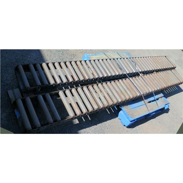 "Qty 2 Metal Conveyor Sections 126""L x 14""W"